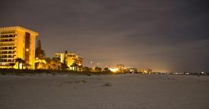 Strand nachts Stockbild