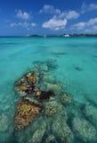 Strand an Nassau-Morgen lizenzfreies stockfoto