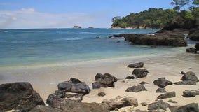 Strand in Nationaal Park Manuel Antonio, stock videobeelden