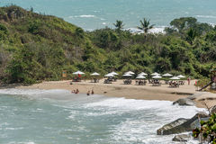 Strand an Nationalpark Santa Marta Tayrona in Kolumbien Stockfotos