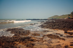 Strand-Naturmeer Indiens Goa stockfotografie