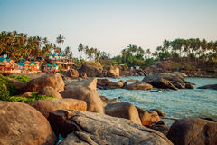 Strand-Naturmeer Indiens Goa Lizenzfreie Stockbilder