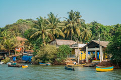 Strand-Naturmeer Indiens Goa stockfoto