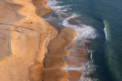 Strand in Nazare, Portugal Lizenzfreies Stockbild