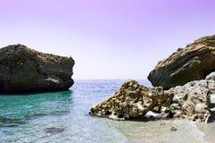 Strand nerja malaga Arkivbild