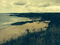 Strand in Newquay Cornwall Stock Afbeeldingen