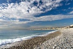 Strand in Nice Royalty-vrije Stock Fotografie