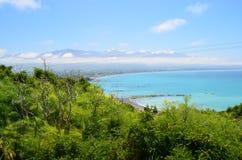 Strand in Nieuw Zeeland Stock Foto's