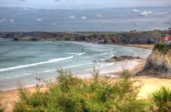 Strand Nord-Cornwall England Großbritannien Newquay Towan mögen eine Malerei in HDR