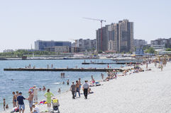 Strand Novorossiysk Royalty-vrije Stock Afbeelding