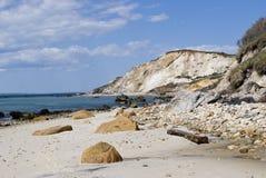 strand nya england arkivfoton