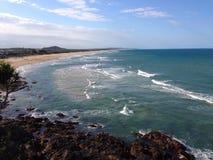 Strand oceaanlandschap Stock Afbeeldingen