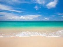 Strand och härligt tropiskt hav arkivbild