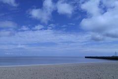 Strand och hamn Arkivbild