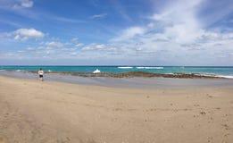 Strand och hav Arkivfoto