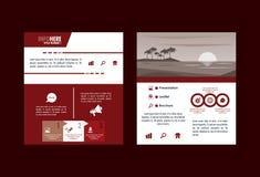 Strand och infographic loppbroschyr vektor illustrationer