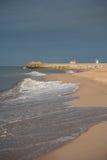 Strand och pir i awowo för 'för WÅ-'adysÅ royaltyfri fotografi