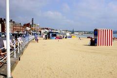 Strand och promenad, Weymouth, Dorset, UK Arkivfoton