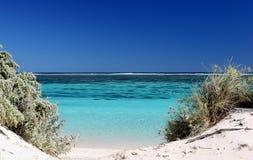 Strand och rev västra Australien Royaltyfri Bild