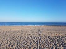 Strand och sand Arkivbilder