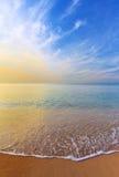 Strand- och sandbakgrund Royaltyfri Bild