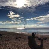 Strand och sky royaltyfria foton