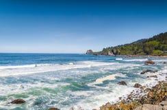Strand och sky royaltyfri fotografi