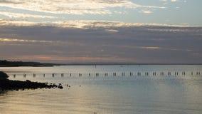 Strand och solnedgånghimmel Royaltyfria Bilder