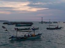 Strand och solnedgånghimmel Royaltyfri Fotografi