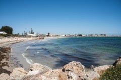 Strand och strand för badare` s Arkivfoton