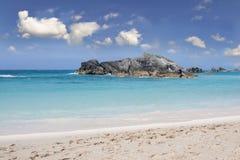 Strand och tropiskt hav Fotografering för Bildbyråer