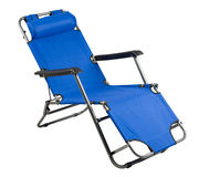 Strand oder kampierender Stuhl Stockfotografie
