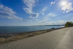 Strand-Ontario See Stockbild