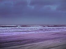 Strand in onweer Royalty-vrije Stock Foto