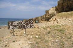 Strand op Cyprus Stock Afbeelding