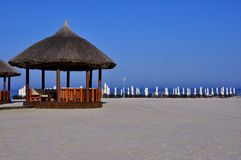 Strand op de Kust van de Zwarte Zee in Roemenië Royalty-vrije Stock Afbeelding