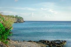 Strand op een Caraïbisch Eiland royalty-vrije stock afbeeldingen