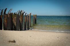 Strand op een eiland van de Noordzee royalty-vrije stock foto's