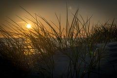 Strand op een eiland van de Noordzee stock afbeeldingen