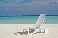 Strand op een Maledivisch Eiland Stock Foto's