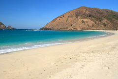 Strand op eiland Lombok. Stock Foto's