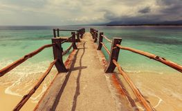 Strand op Gili Royalty-vrije Stock Foto