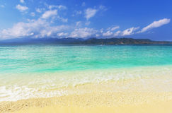 Strand op Gili Stock Foto
