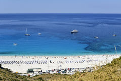 Strand op Grieks eiland Royalty-vrije Stock Foto