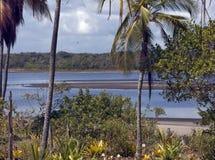 Strand op het Eiland van ` Pedra Furada `, Bahia royalty-vrije stock afbeelding