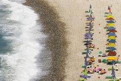 Strand op het Samos eiland Stock Foto's