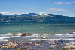 Strand op ile-aux-Coudres Stock Foto's