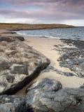 Strand op Inishmore, Ierland Royalty-vrije Stock Afbeeldingen