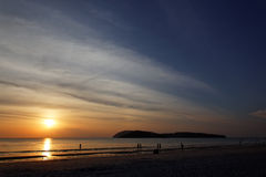 Strand op Langkawi eiland, Maleisië Stock Foto