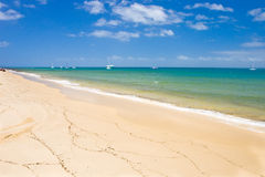 Strand op Moreton Eiland, Australië Stock Fotografie